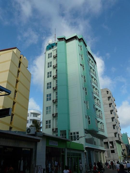Das Najahiya-Hotel. Ganz oben sieht man ...