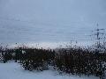 Blick nach Westen zur Wolkenlücke, Parkplatz Rur-Scholle, 08:26 Uhr