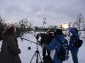 Interview mit Daniel für das Mittagsmagazin, Parkplatz Rur-Scholle, 08:35 Uhr