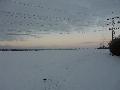 Die Wolkenlücke rückt näher, Parkplatz Rur-Scholle, 08:47 Uhr