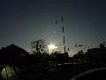 Die SoFi ohne Filter, als Reflex über der Sonne sichtbar, Aachen, 10:02 Uhr